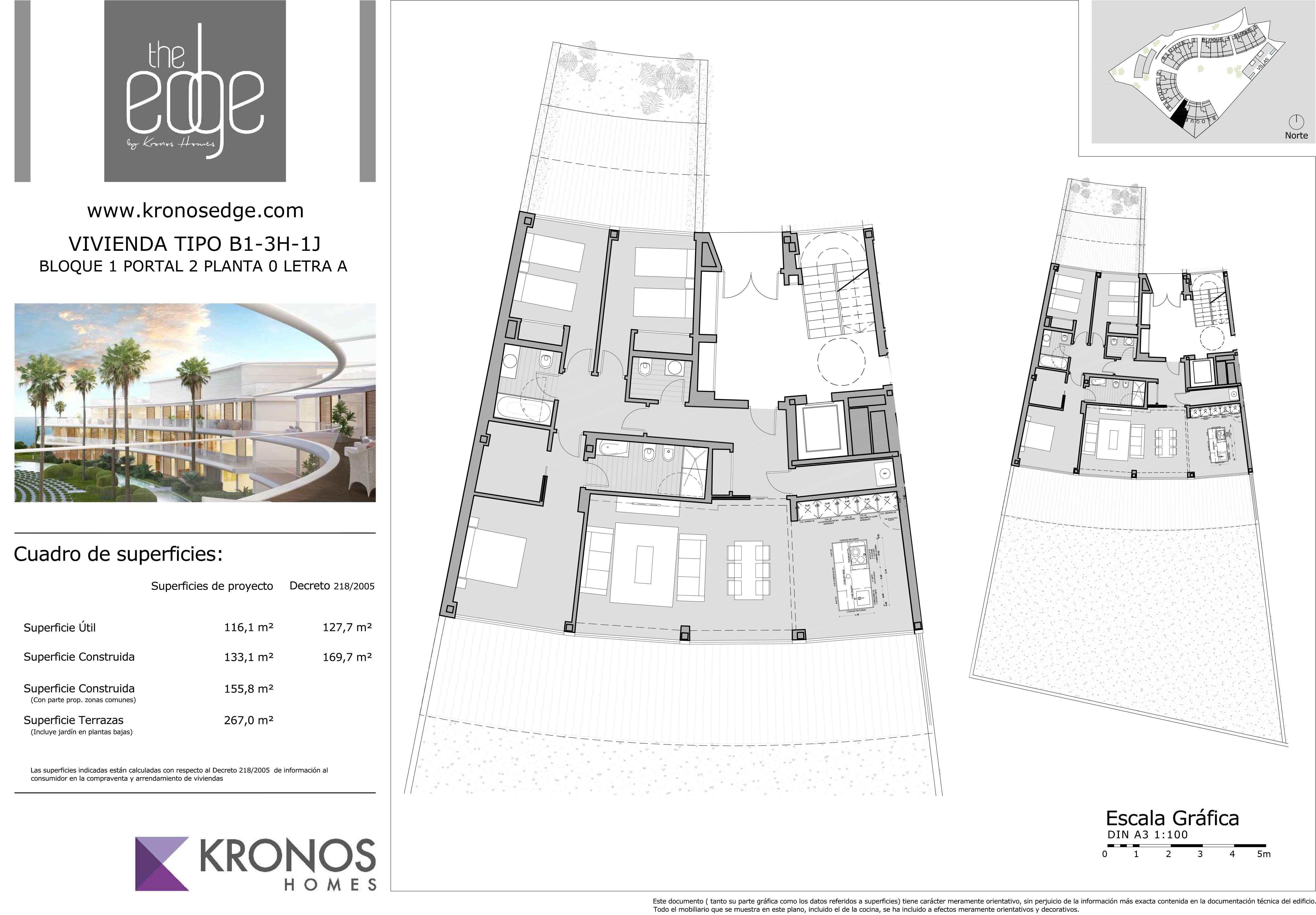 Plano apartamento 2 dormitorios