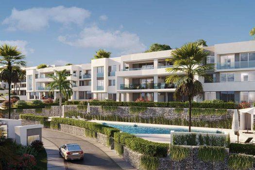 villas unifamiliares y apartamentos de 3 y 4 dormitorios, Santa Clara Marbella